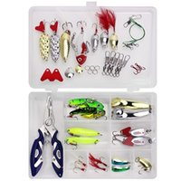 false horse mouth oblique cut Sequin VIB accessories feather binding multifunctional tongs set 42 pieces Luya bait
