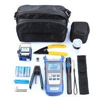 Herramienta de mano profesional Conjuntos Fibra óptica FTTH Kit Medidor de potencia óptico Cleaver Stripper Herramientas de conexión en frío Conjunto con bolsa de almacenamiento