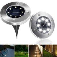 屋外照明太陽電池パネルLED床ランプデッキライト8/10/12/16/20 LED地下ライトガーデン経路スポットライト
