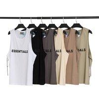 21ss Ins T Gömlek Streetwear Marka Bahar Yaz Hip Hop Tanrı Tanrı'nın Önü Essentials 3D Silikon Tee Kaykay Sis Erkek Kadın Kısa Kollu Rahat
