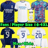 S-4XL REAL MADRID jerseys 21 22 Player + Fan futebol futebol camisa 2021 2022 ALABA PERIGO SERGIO RAMOS BENZEMA ASENSIO MODRIC MARCELO camiseta masculino + kids kit