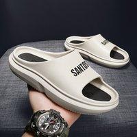 Top quality platform slipper sandal shoes foam runner pure core biack resin Stylish, comfortable and light bone men women luxury designer slides sandals