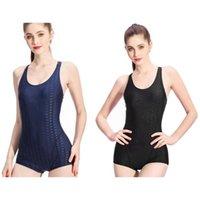 One-Pieces 2PCS Women One Piece Swimwear Women's Body Swimsuit Summer Bathing Suit Beach Wear, Black & Dark Blue