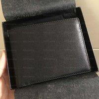 Erkek patron cüzdanlar lüks tasarımcı cüzdan erkek buzağı derisi kredi kartı tutucu mükemmel kaliteli hakiki deri rfid para klip sikke çanta kutusu ile
