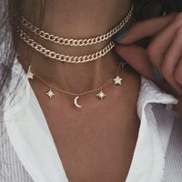Punk Coin Chain Necklace for Women 2Pcs set Gold Color Pearl Bead Choker Gothic Multilayer Pendant Necklaces Jewelry Party