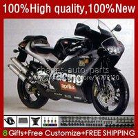 Kit de feiras para Aprilia RSV250RR RS-250 RSV250 RS RSV 250 RSV-250 95-97 24no.26 RS250RR RS250 RR 1995 1996 1997 RSV250R RS250R 95 96 97 Motociclos Matte Preto Bodys