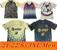 21-22 الحجم S-3XL Club América بعيدا Soccer Jerseys Liga MX 2021 جيوفاني هنري أمريكا UNAM الثالثة UAN Castillo F.Vinas Mexico Football Shirts