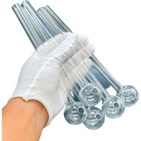 20cm Glass Oil Burner Pipe Mini Thick Pyrex Smoking Pipes Clear Test Straw Tube Burners For Water Bong Accessories
