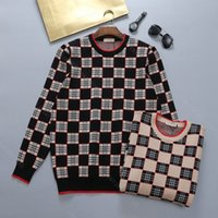 Vinterdesignerull Hoodie Tröja Män Casual Tröjor Hoodies Louisclothes Brand Crochet Man Toppar Stickning Hooded Sweatshirt Långärmad Plus Storlek