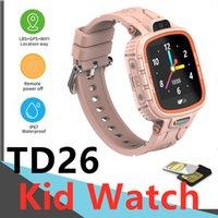 TD26 Ребенок смарт-часы GPS LBS Positioning Водонепроницаемый IP67 Камера Возьмем Фото Вин на фото Ремешок Ремешок для мальчика Девушка SIM-карта 2G SOS Push Message PK Q12 Y88 Часы Телефон