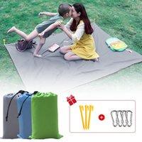2x1.45m Waterproof Pocket Beach Blanket Folding Camping Mat Mattress Portable Lightweight Outdoor Picnic Sand Pads