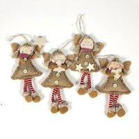 Christmas Pendant Drop Ornaments Angel Doll With Long Legs Xmas Tree Holiday Decorations Christmas Decorations For Home Navidad OWD8934
