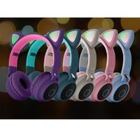 Cute Cat Ears Headphone Wireless Bluetooth 5.0 Headband Earphones Game Colorful LED Light Headset Beauty HIFI Music Headphones Grils Kids Gift
