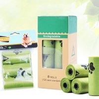 Rolls / Box Dog Poop Bag Degradação Descartável Caixa De Lixo Pick up Toilet Sacos Gato Desperdício Ao Ar Livre Clean Viagem Ao Ar Livre