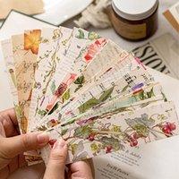 Bookmark 30 feuilles / boîte fleur rétro papier botanique signets Papeterie Sticky Note Sticky Card cadeau de professeur étudiant
