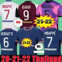 Maillots de Football 축구 유니폼 2021 2022 Pre Match Training Florenzi 20 22 22 MBappe Icardi Camisetas Futbol Shirt Verratti 세트 4 파드 Marquinhos 세트