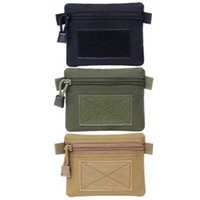 Storage Bags Outdoor Waist Hanging Coin Purse Small Portable Men And Women Wallet Camping Hiking Zipper Bag