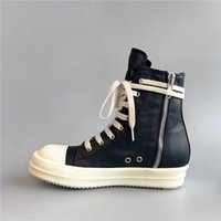 2020SS High Top Top Blanco y negro Cera TPU Fragant Sole Flats Trainer Hip Hop Street Rock Boots