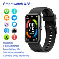 X28 Smart Watch Men Women Smartwatch IP68 Waterproof Fitness Tracker Sport Watches Phone Heart Rate Monitor Blood Pressure for IOS Android