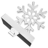 Hooks & Rails Christmas Snowflake Shaped Stocking Holder Fireplace Decoration