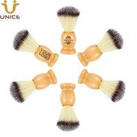 ADEDI 50 ADET Tıraş Fırçası OEM ODM Naylon Kıllar Kuaför Ile Ahşap Saplı Kuaför Razor Yüz Saç Sakal Tıraş Temizleme Fırçalar
