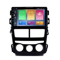 Touchscreen 자동차 DVD 스테레오 플레이어 Toyota Vios-2018 수동 에어컨 USB 음악 애프터 마켓 안 드 로이드 10 GPS 네비게이션 9 인치 HD