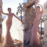 Suknie wieczorowe Syrenka High Collar Syrenki z Cape Star Laski Cekinowe Formalne Eleganckie Suknie Prom 2020 Dostosowane szaty De Soirée Red Dywan Sukienka