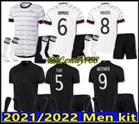 Мужчины Kit + Kids Kit 2021 Германия Футбол Джерси Дом Hummels Kroos Draxler Reus Muller Potze Футбольные рубашки Униформа