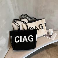 Totes Female Fashion Letter Shoulder Bag Simple Trend Handbag College Student Shopping Bags