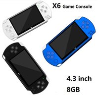X6 Handheld Game Players 8GB Memory Portable Video Game Consoles 4.3 inch Screen Support TF Card TV-OUT MP3 MP4 Player Best quality