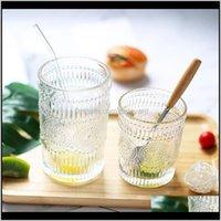 Kitchen, Dining Bar Home & Gardencxd-Retro Glass Water Cup Coffee Wine Milk Whisky Tea Mug Juice Drinkware Mugs Reusable Glasses Drop Deliver