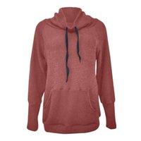 Women's Hoodies & Sweatshirts Autumn Winter Fashion Casual Pocket Long-Sleeved High Quality T-shirt Women Collar Tops