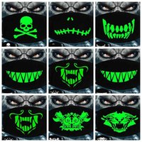 Luminous Face Mask Halloween Skeleton Party Masks Anti Dust Teeth Glow Mouth Mask Dark in night Skull Masquerade Masks Cosplay GGA3514