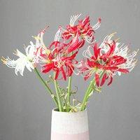 2020 Decoración para el hogar Flor artificial Lycoris Radiata Home Sala de estar Flor de seda Escena de boda Diseño Árbol de Navidad Plantas falsas Y0630