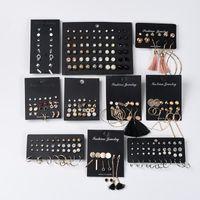 Black Card Fashion Earrings Set 6-30 Pairs Girls Party Gift Wedding Jewelry Boho Geometric Tassel Stdu For Women Stud