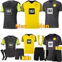 2021 Custom Haaland Reus Borussia Jerseys Dortmund Soccer Jersey Especial 21 22 Sancho Brand Plszczek Homens Kit Kit Futebol