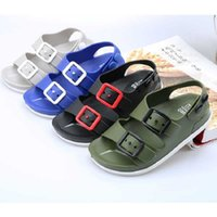 Sandalias de niños Sandalias Soft Cuero Niñas Niños Bebé Zapatos de verano Y Niños Playa Deporte Niños 13-24m 210712
