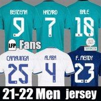 21 22 Real Madrid Home Faros Soccer Jersey 2021 Thai Toppkvalitet Bale Asensio Man Fotbollskjorta Modric Marcelo Camiseta de Futbol Cameraa