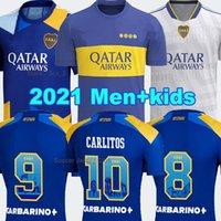 Boca Juniors Soccer Jersey 2021 2022 كارليتوس Maradona Tevez de Rossi 21 22 الصفحة الرئيسية الثالثة 3RD كرة القدم قميص الرجال + أطفال مجموعات مجموعات الزي الرسمي