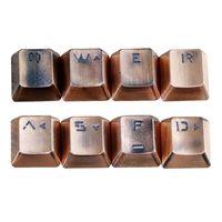 Fare Pedleri Bilek Dinlenir Değiştirilebilir Metal KeyCap Yazı Tuşları Mekanik Klavye Çapraz Mil Anahtar Kapak Dropship