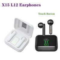 L12 Headphones Wireless Touch Control 5.0 Bluetooth earphones EarbudsIn-ear Headset Led Display Gaming Headsets With Microphone For iPhone Samsung Huawei