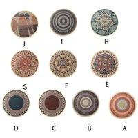 Nordic Round Area Rug Hand Woven Tassels Geometric Floral Bedside Mat Carpet 449C Carpets