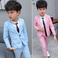 Clothing Sets Casual Kid's Suit Dresses For Wedding Buying 2-10Y Baby Boy Blazer Costumes Solid Cotton Children's Suits Clothes