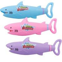 Arena Juego de agua Diversión 3kinds Tipo de bombeo de alta presión Cartoon Tiburón Agua Pistola de agua Juguete para niños Playa de verano