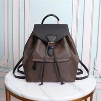 M45515 مونتسوريس حقيبة الظهر امرأة الكلاسيكية براون زهرة أزياء الجلود حقيبة السفر مصممون مشبك التعادل حبل الظهر m45501 m45205