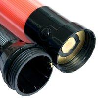 2pcs 21 pollici Wand 2 modalità lampeggianti Portatile SAFTY INDICATORE DIFF TRAFFICO INDICATORE ANTI SLIP SEGNALE SEGNALE PVC Light Gestione della batteria