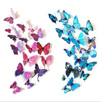 Butterfly Wall Sticker 3D Colorfu Removable Mural Stickers Decorations for Home Wedding Kids Room Bedroom Nursery Magnets Butterflies Decor
