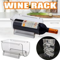 후크 레일 1PC 냉장고 주최자 주방 병 저장 랙 쌓을 수있는 와인 홀더 병 디스플레이 선반 냉장고 # 38