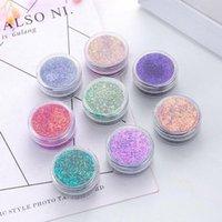 Göz Farı Bukalemun Glitter Krom Göz Farı Pudra Pigmentler Su Geçirmez Parlak Metalik Gevşek Parti Makyaj Araçları