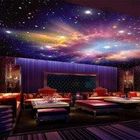 Mural personalizado 3D estrella Nebula cielo nocturno pintura de la pared techo switpox sofá sofá TV fondo galaxia autoadhesivo fondo de pantalla wallpapers